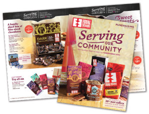 Equal Exchange offers a fundraising program featuring fair trade coffee, chocolate, and gifts.