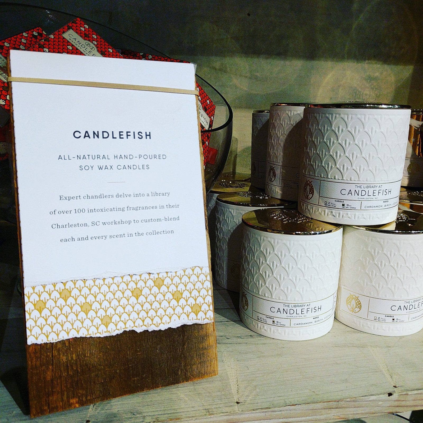 Handpoured soy candles from Candlefish at Anthropologie